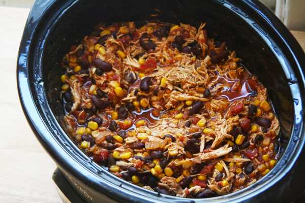 Crock Pot Chicken Taco Chili   ohsodecadent.com