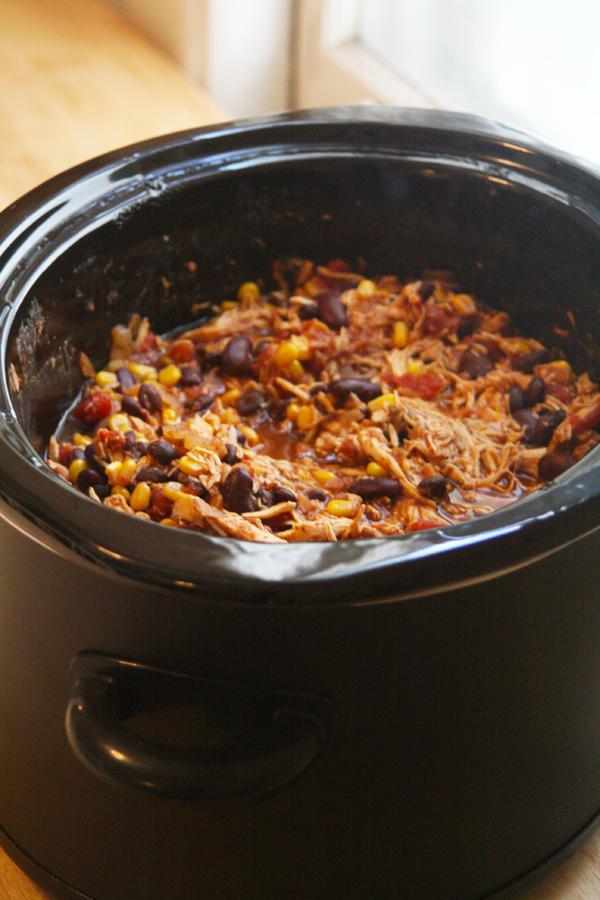 Crock Pot Chicken Taco Chili | ohsodecadent.com