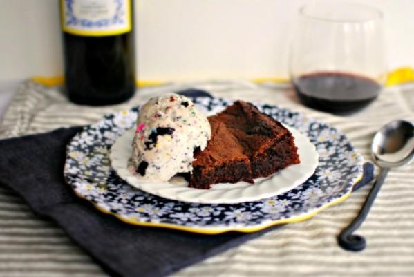 cabernet-ganache-swirled-brownie-and-ice-cream-620x415