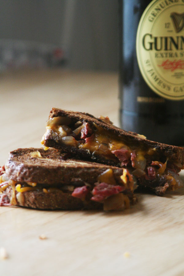 Corned Beef Grilled Cheese | ohsodecadent.com