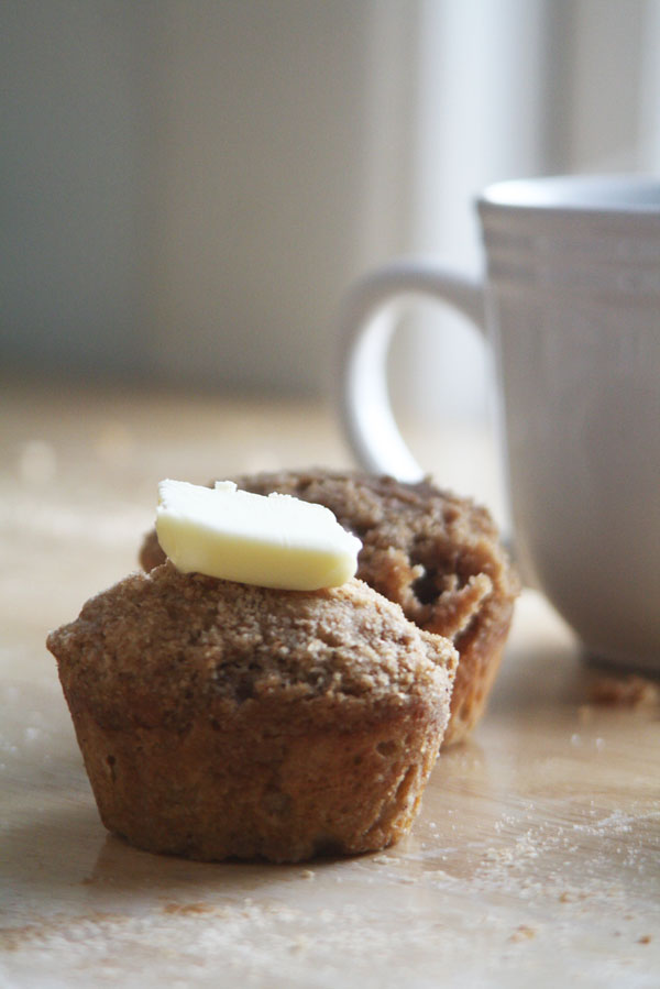 Whole Wheat Coffee Cake Muffins | ohsodecadent.com